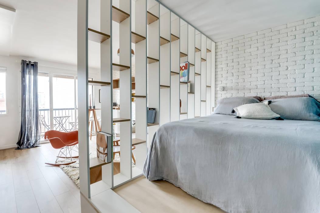 PROJET VOLTAIRE, Agence Transition Interior Design, Architectes: Carla Lopez et Margaux Meza: Chambre de style  par Transition Interior Design