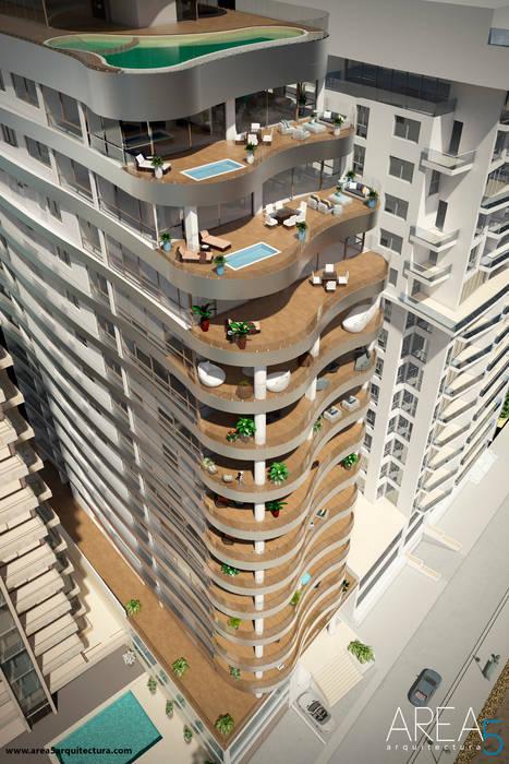 Morano Mare - Diseño de terrazas: Terrazas de estilo  por Area5 arquitectura SAS