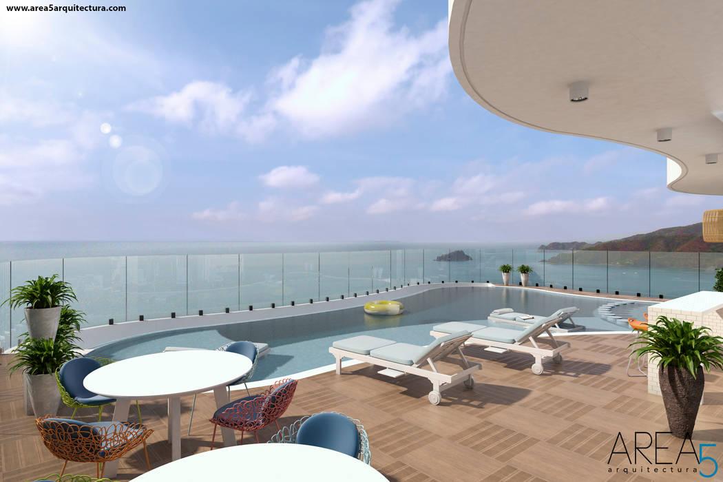 Morano Mare - Piscina Piscinas de estilo moderno de Area5 arquitectura SAS Moderno