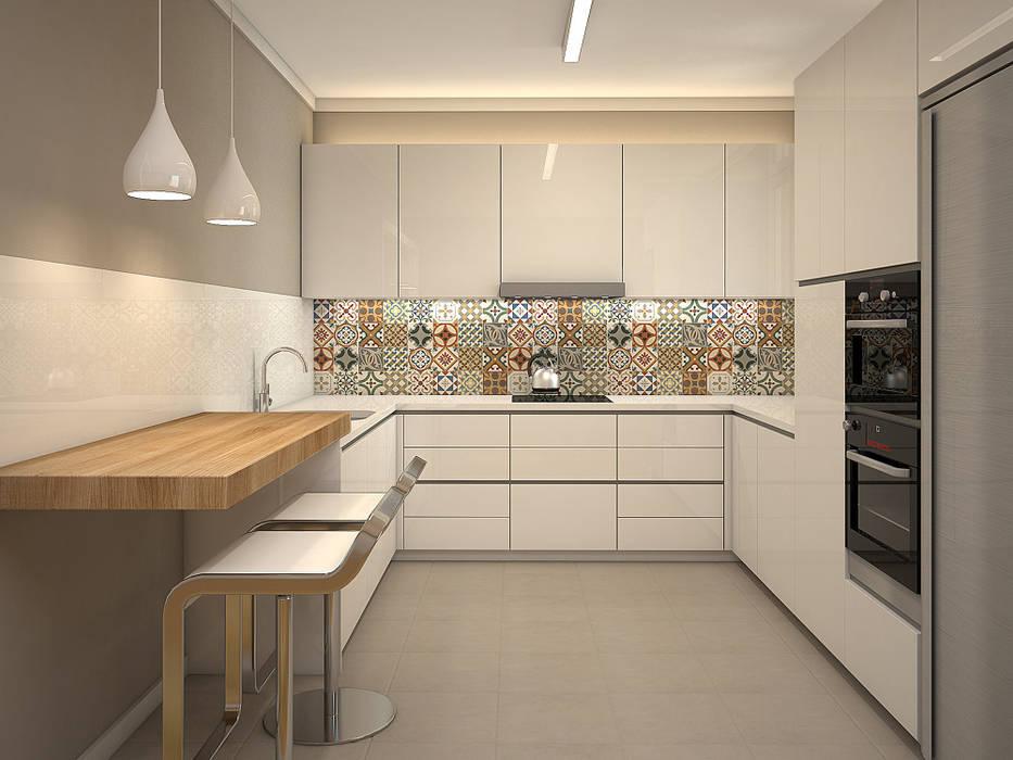 Beivide Studio Scandinavian style kitchen Wood White