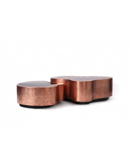 WAVE Table (Big) copper por Be-Luxus Moderno