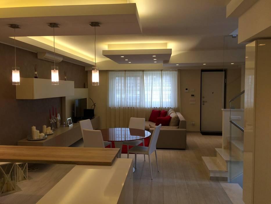 Progettazione e arredamento dinterni: soggiorno in stile di osimani