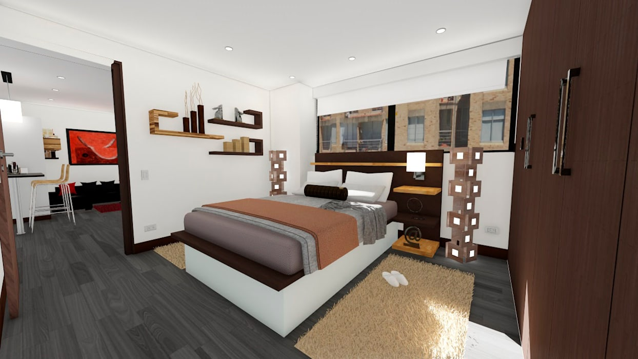 Modern Bedroom by OGGETTO ARQUITECTOS Modern