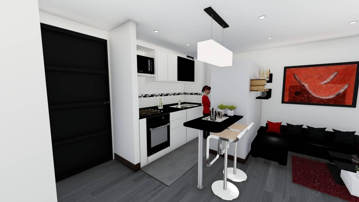 OGGETTO ARQUITECTOS Modern style kitchen