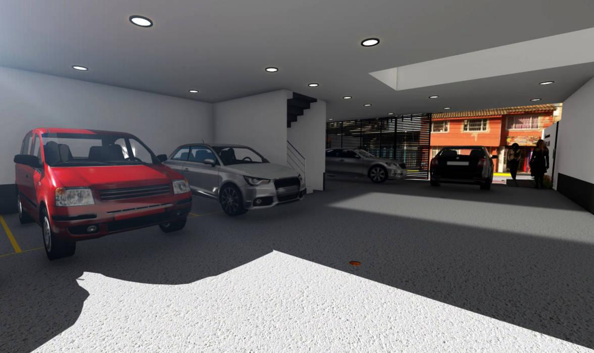 Aparta-estudios Garajes de estilo moderno de OGGETTO ARQUITECTOS Moderno