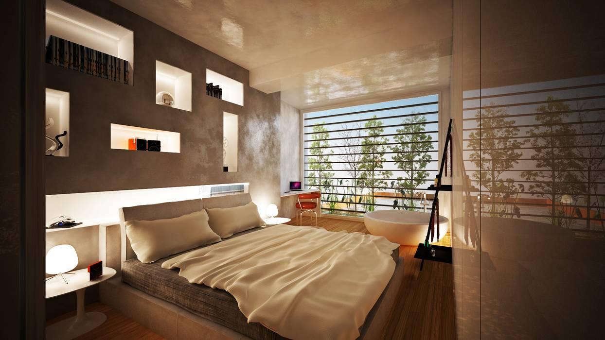 Interior Design: la camera da letto Camera da letto moderna di VILLE IN BIOEDILIZIA Moderno
