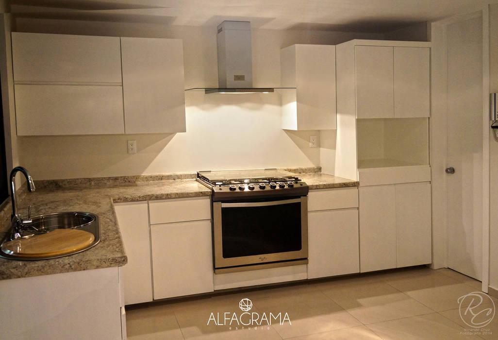 Cozinhas modernas por Alfagrama estudio Moderno
