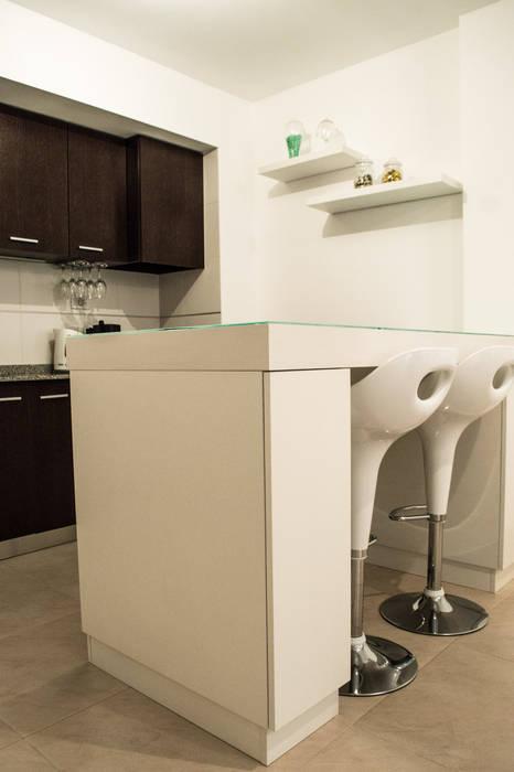 MinBai 廚房桌椅 木頭 White
