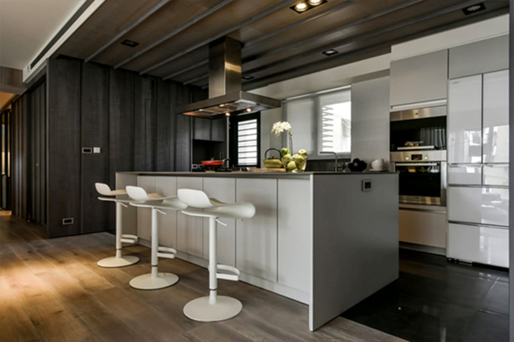 Industrial style kitchen by KD Panels Industrial Wood Wood effect