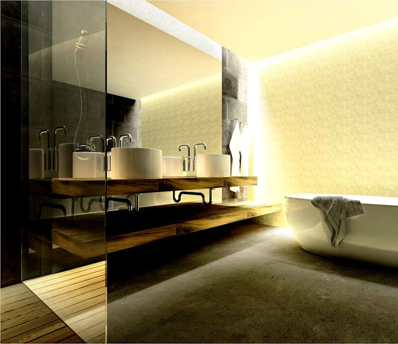 Modern bathroom by By N&B Interior Design Modern