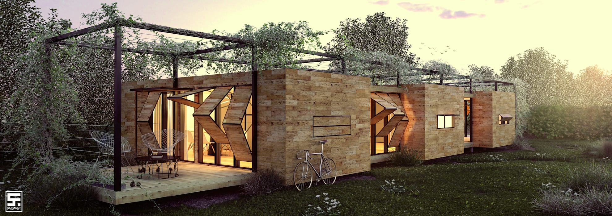 Casas industriales de homify Industrial Madera Acabado en madera