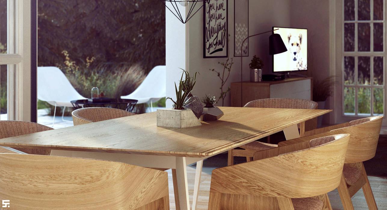 homify Столовая комната в скандинавском стиле Дерево Эффект древесины