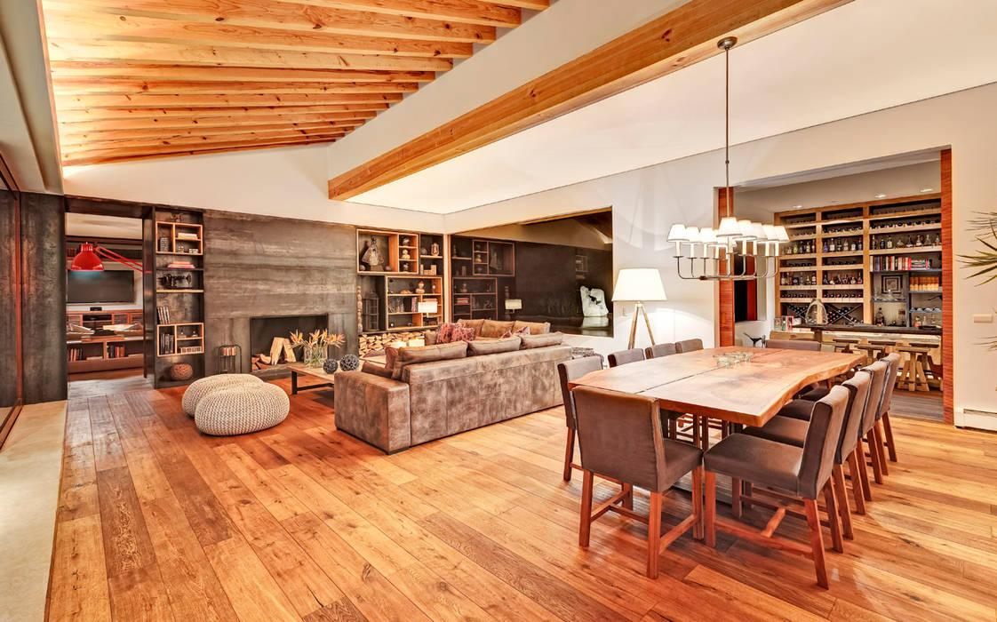 Salas modernas de Lopez Duplan Arquitectos Moderno