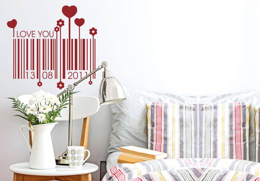 Wandtattoo Datum Liebes Barcode Schlafzimmer Von Kl Wall Art