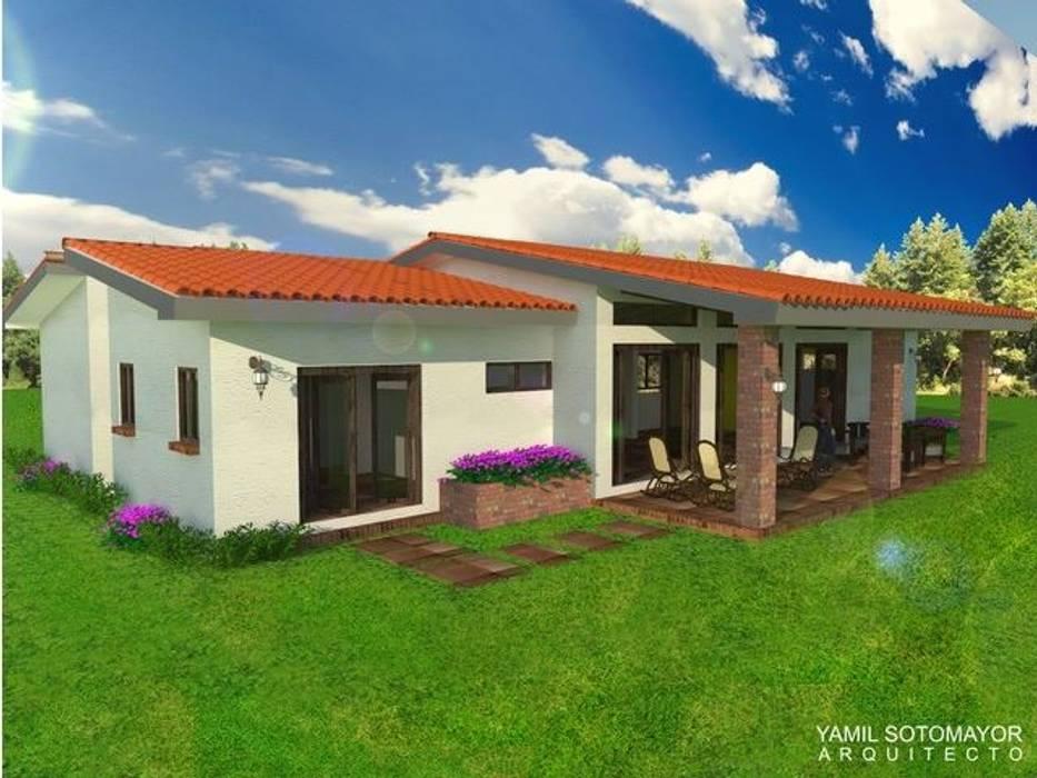 Casas de estilo  por YAMIL SOTOMAYOR ARQUITECTO