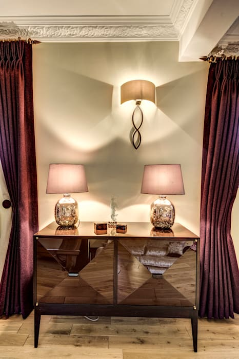 Technical aspects of lighting design Livings de estilo moderno de Chameleon Designs Interiors Moderno