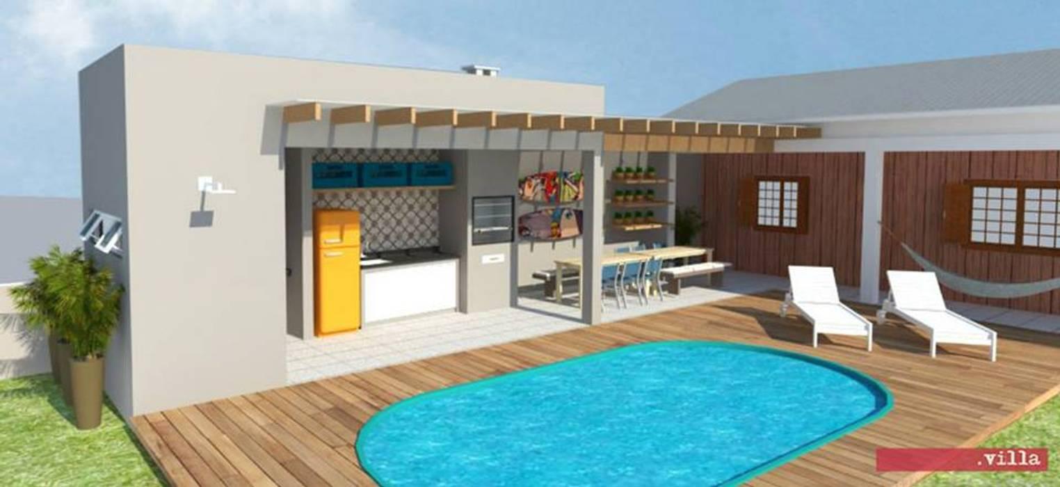 CF317 | área de lazer e piscina Piscinas modernas por .Villa arquitetura e algo mais Moderno