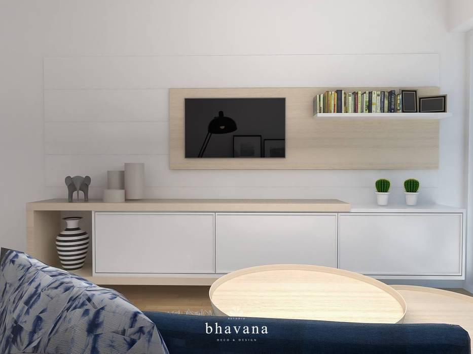 Living Comedor: Livings de estilo  por Bhavana,Escandinavo