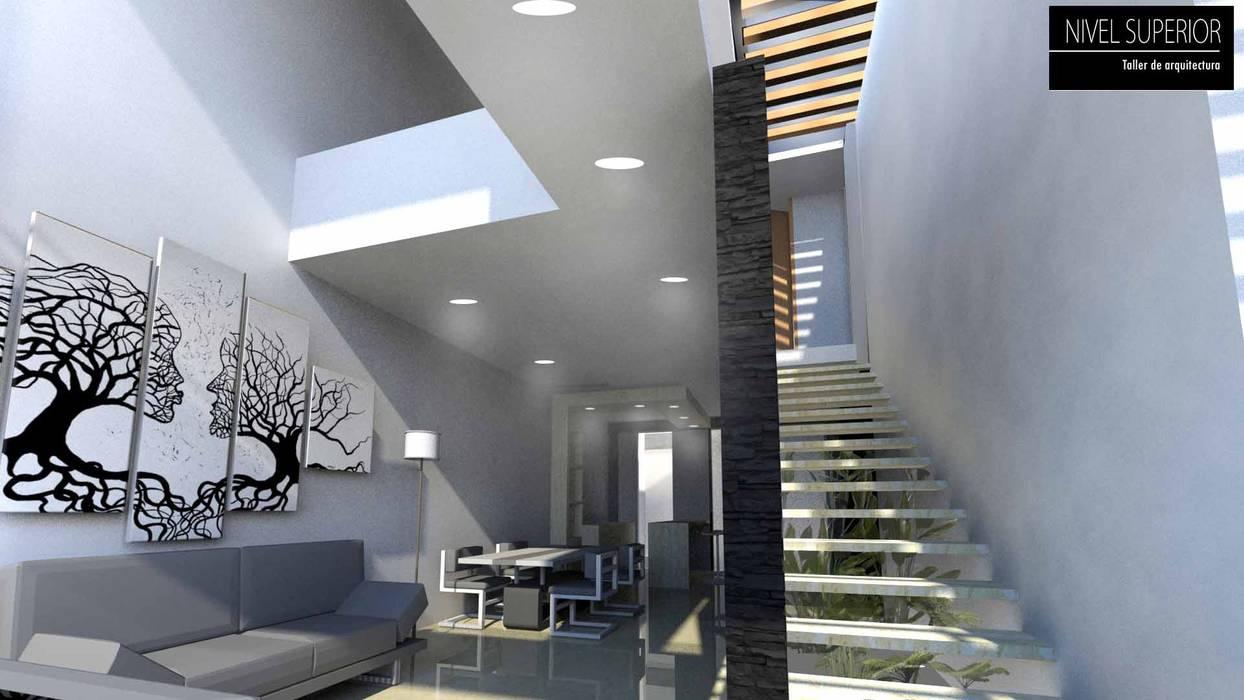 NIVEL SUPERIOR taller de arquitectura Pasillos, vestíbulos y escaleras de estilo moderno