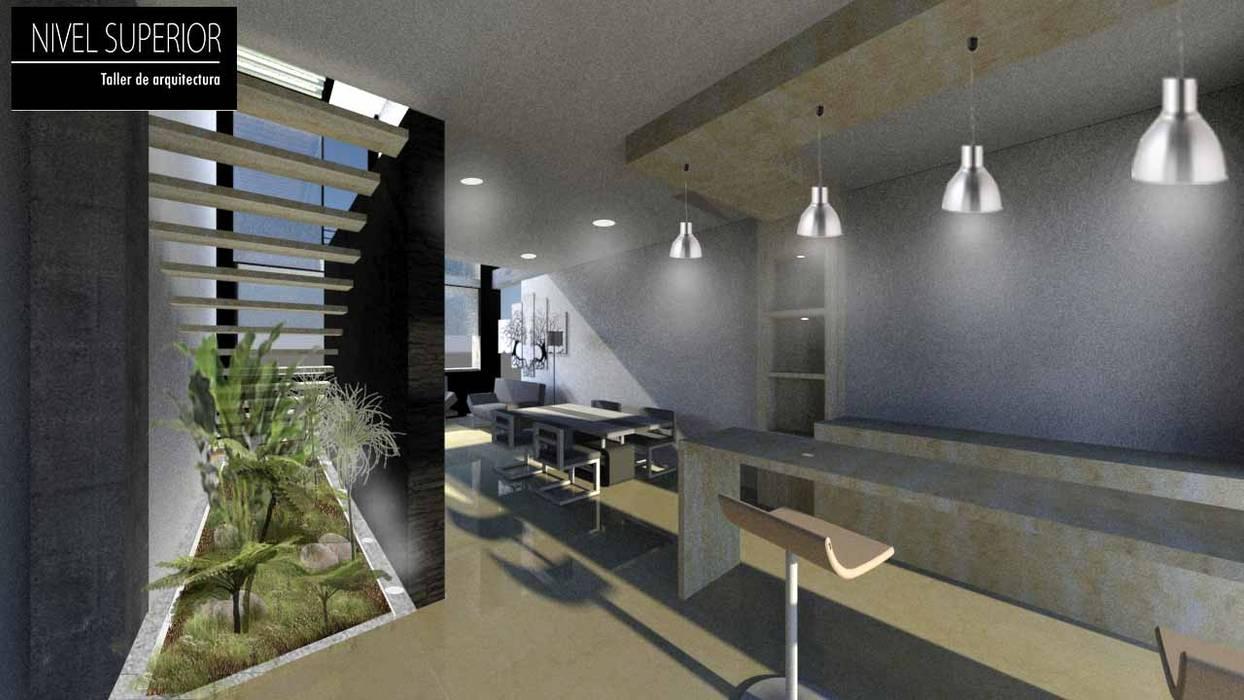 NIVEL SUPERIOR taller de arquitectura Comedores de estilo moderno