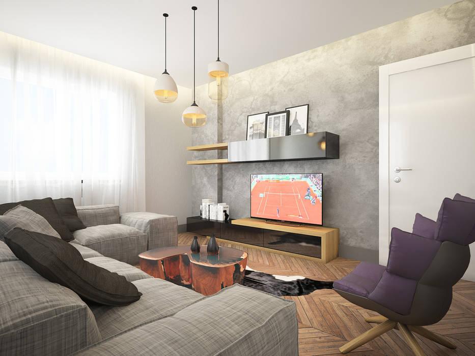 Гостиная в . Автор – Dmd Design, Модерн