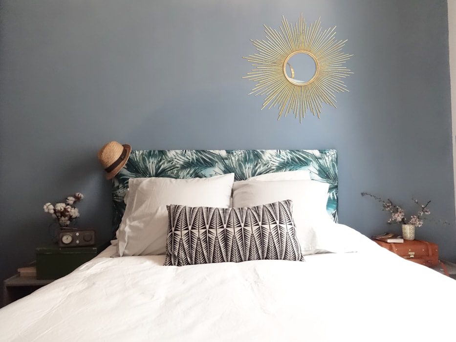 homify Tropical style bedroom Blue