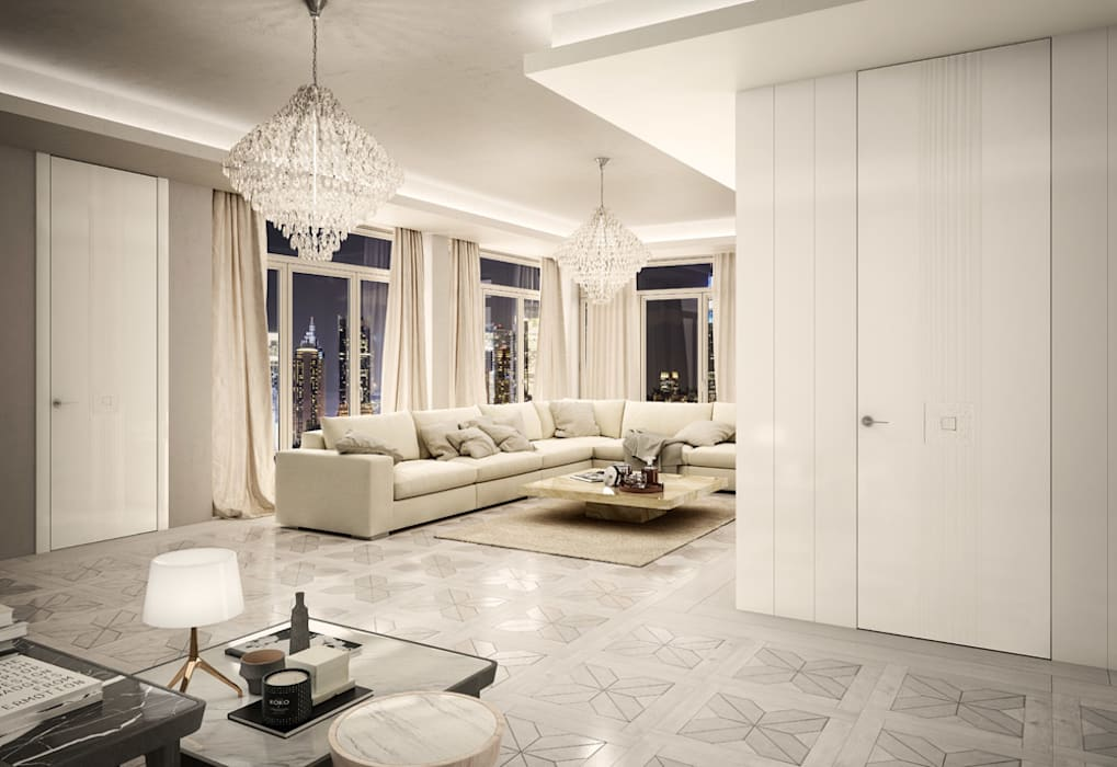 Salon de style  par Romagnoli Porte, Moderne