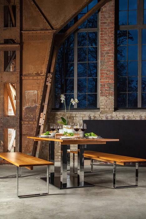 Esstisch Und Zwei Sitzbanke Eiche Massivholz Modern Von