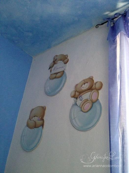 Orsetti su pannelli sagomati: Stanza dei bambini in stile in stile Moderno di Ghirigori Lab di Arianna Colombo