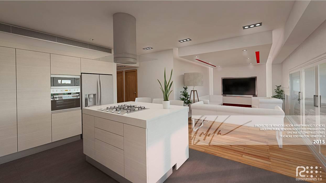 Apartamento de Tucacas Cocinas de estilo moderno de Arq.AngelMedina+ Moderno