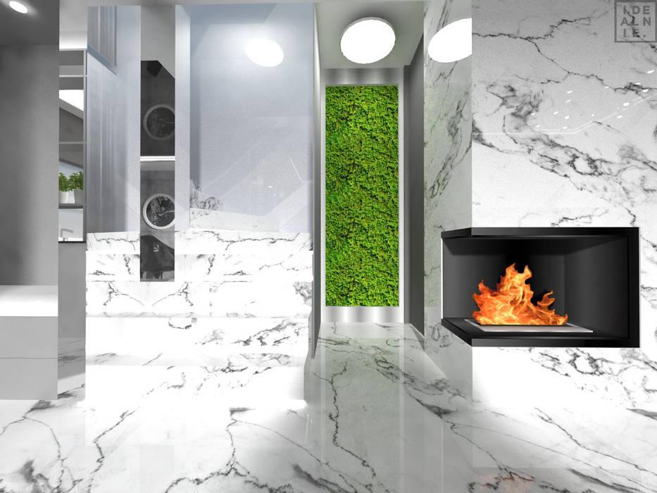 Modern corridor, hallway & stairs by IDEALNIE Pracownia Projektowa Modern