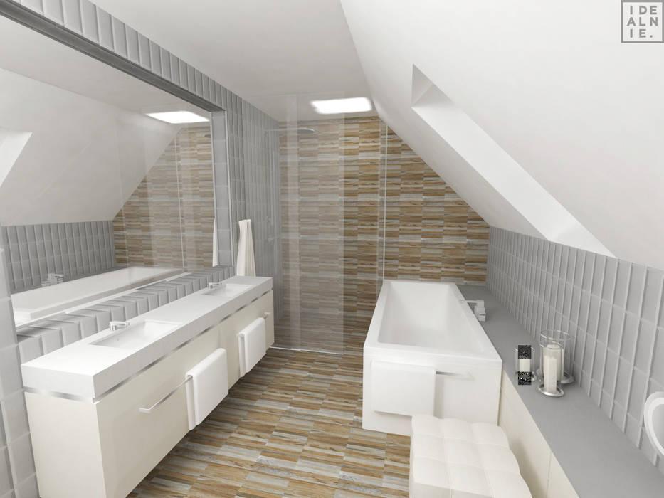 Modern style bathrooms by IDEALNIE Pracownia Projektowa Modern
