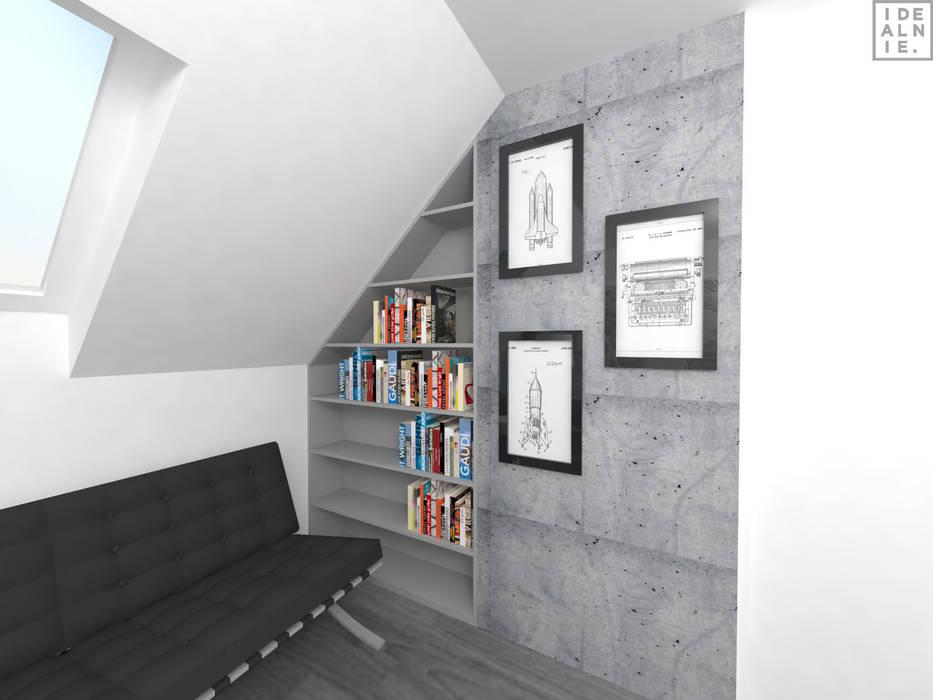 Bureau moderne par IDEALNIE Pracownia Projektowa Moderne