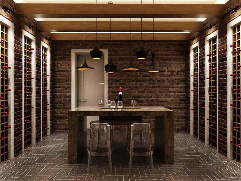 Идеальный интерьер винной комнаты Винный погреб в стиле минимализм от A-partmentdesign studio Минимализм Кирпичи