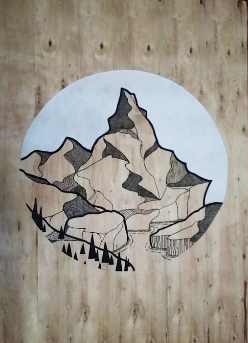 modern  by LM decoración, Modern Wood Wood effect