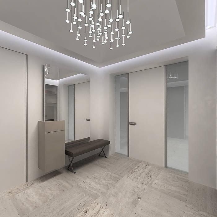 A-partmentdesign studio Vestidores de estilo minimalista Derivados de madera Blanco