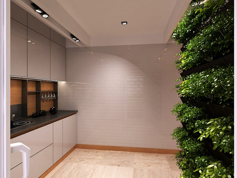 Minimalist corridor, hallway & stairs by A-partmentdesign studio Minimalist Tiles