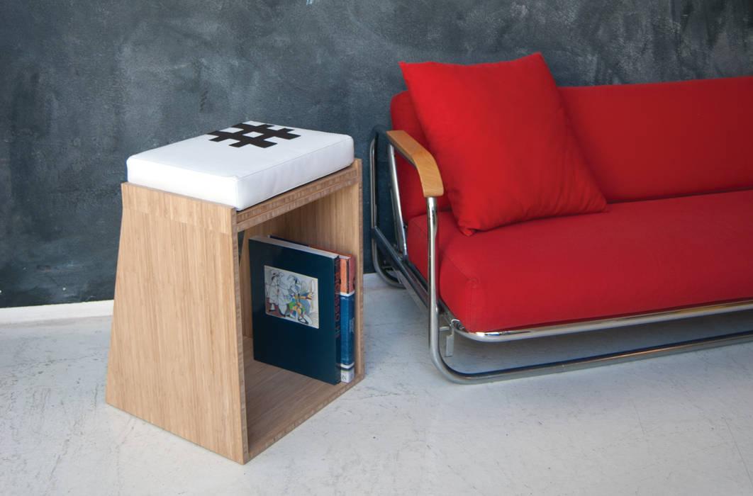STOBLE lo sgabello-tavolino multifunzionale di HORA Moderno Bambù Verde