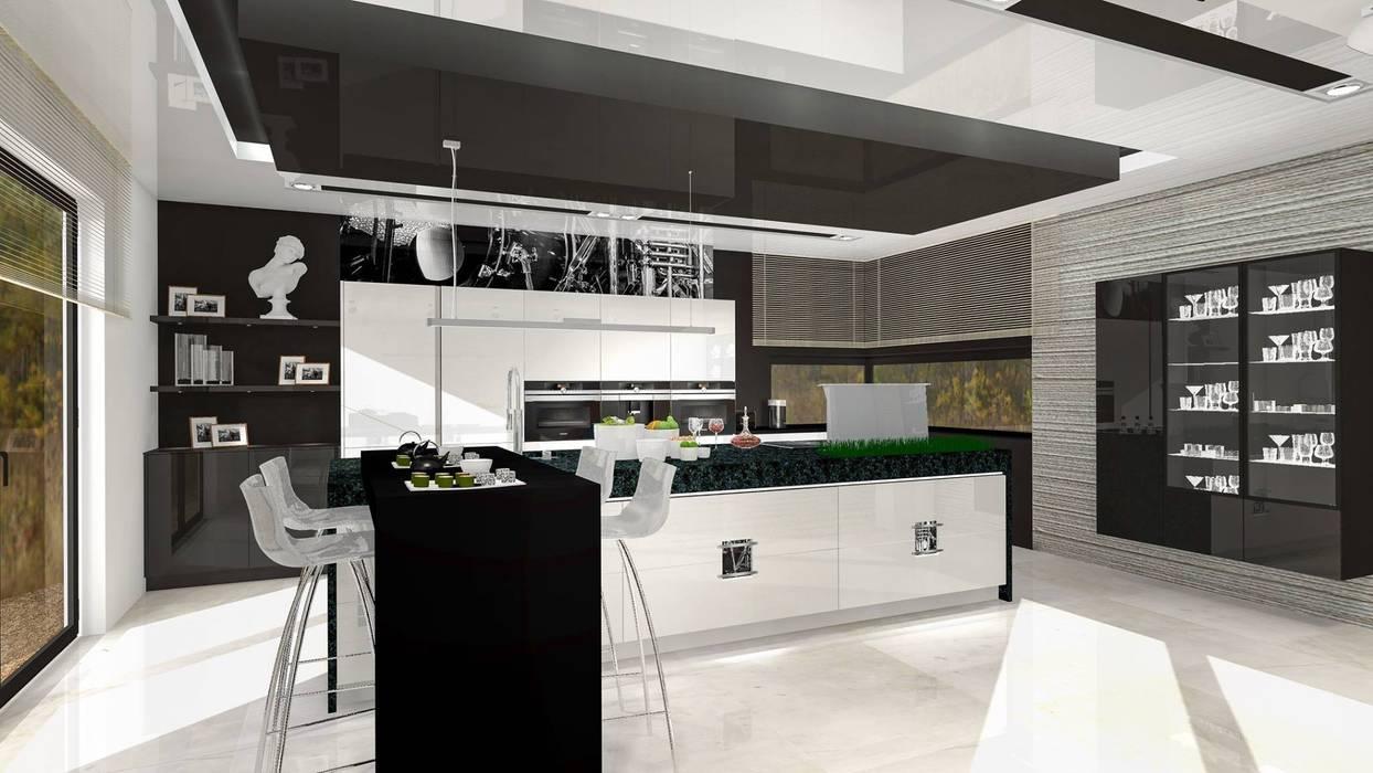 Justyna Kurtz Cocinas de estilo moderno