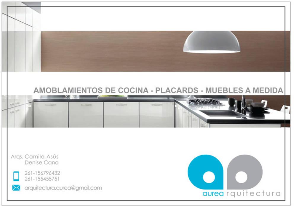oleh Aurea Arquitectura y Amoblamientos, Minimalis