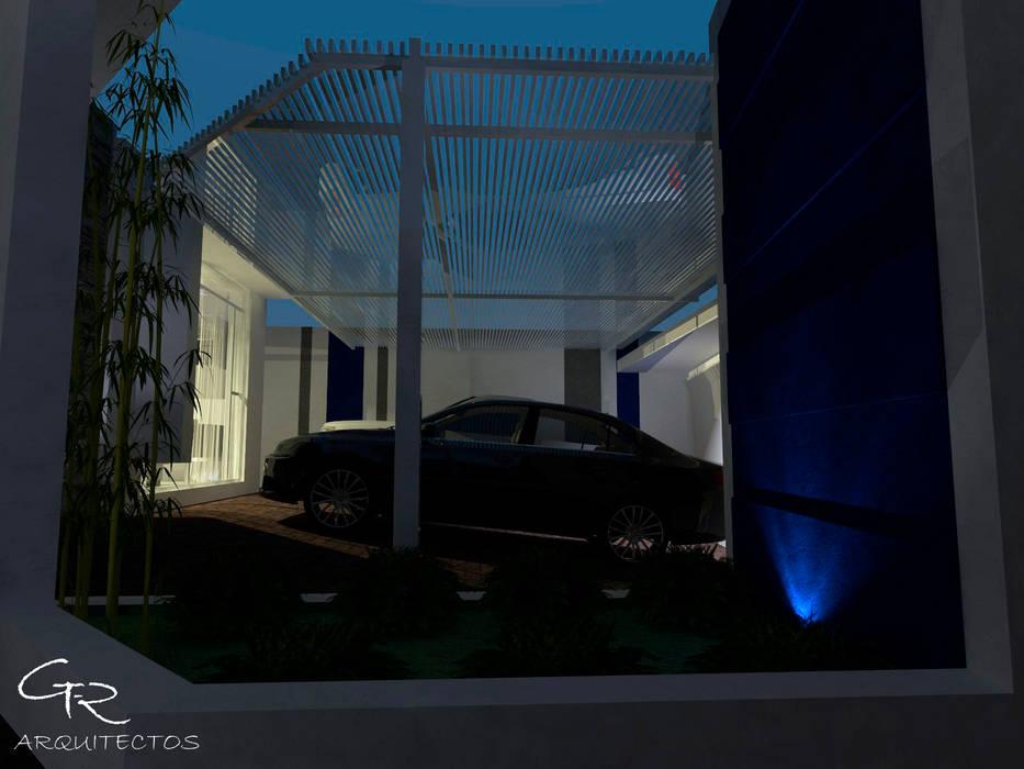 House Mundos Paralelos : Garajes de estilo moderno por GT-R Arquitectos