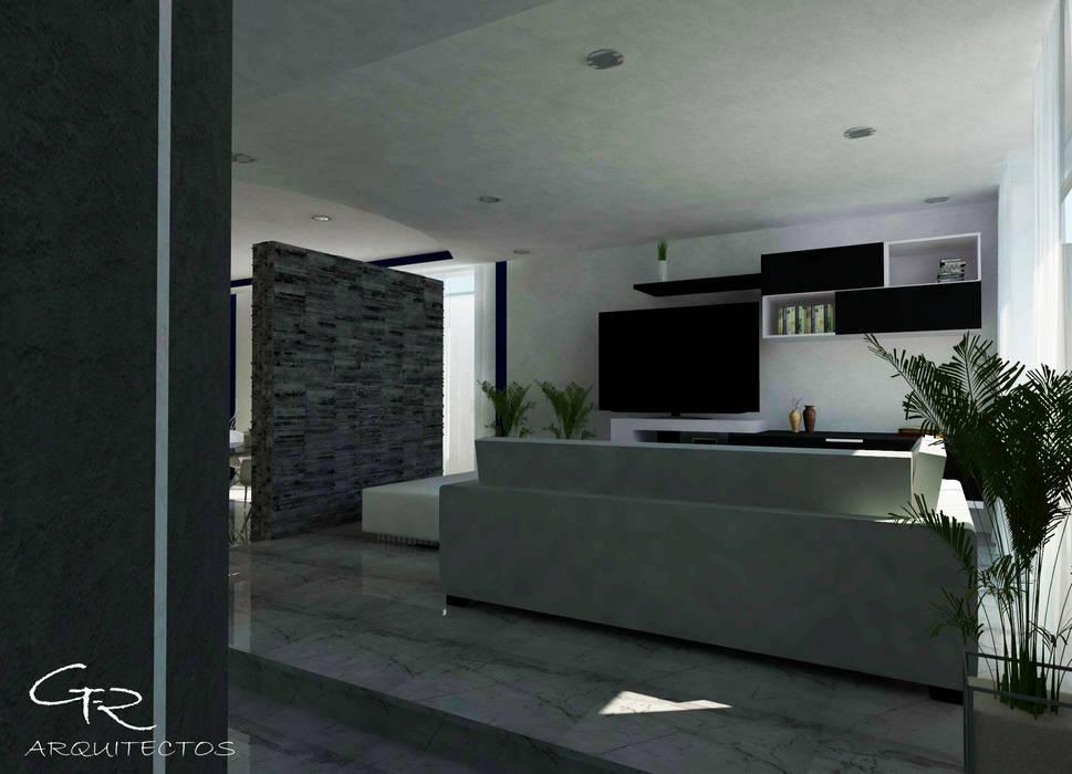House Mundos Paralelos : Salas de estilo moderno por GT-R Arquitectos