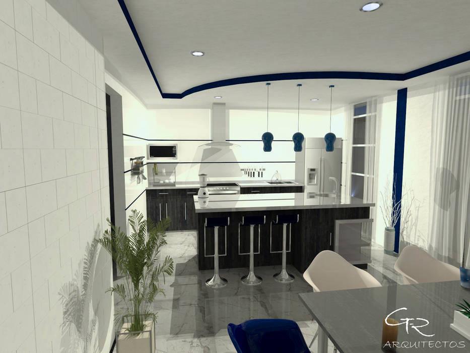 House Mundos Paralelos : Cocinas de estilo moderno por GT-R Arquitectos