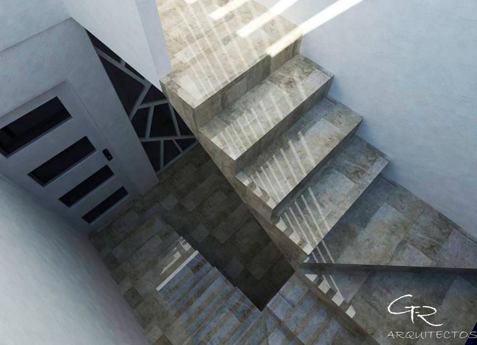 House Mundos Paralelos : Pasillos y recibidores de estilo  por GT-R Arquitectos