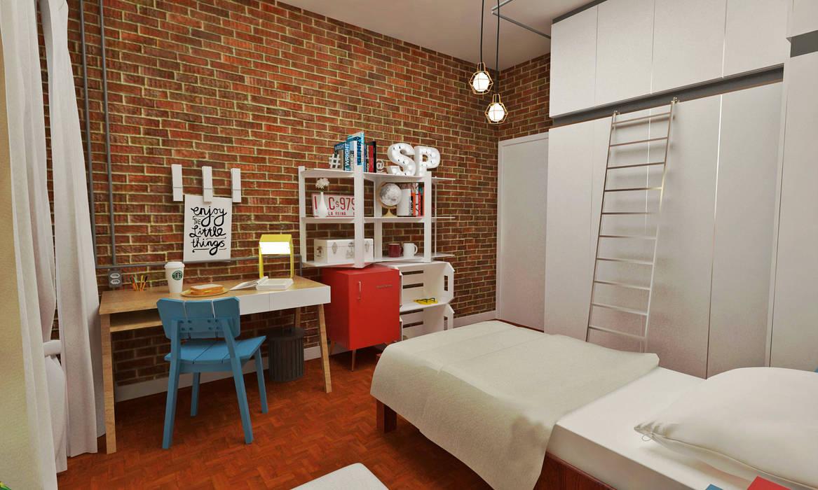Atelier Par Deux Industrial style bedroom