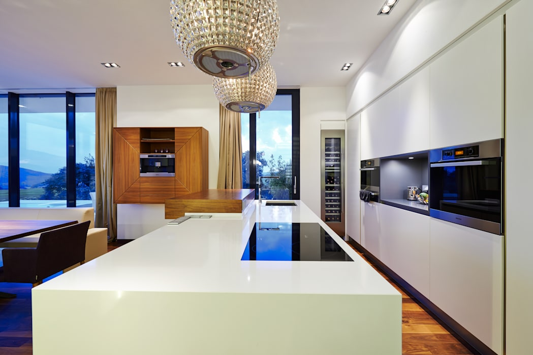 Haus E Moderne Küchen von ZHAC / Zweering Helmus Architektur+Consulting Modern