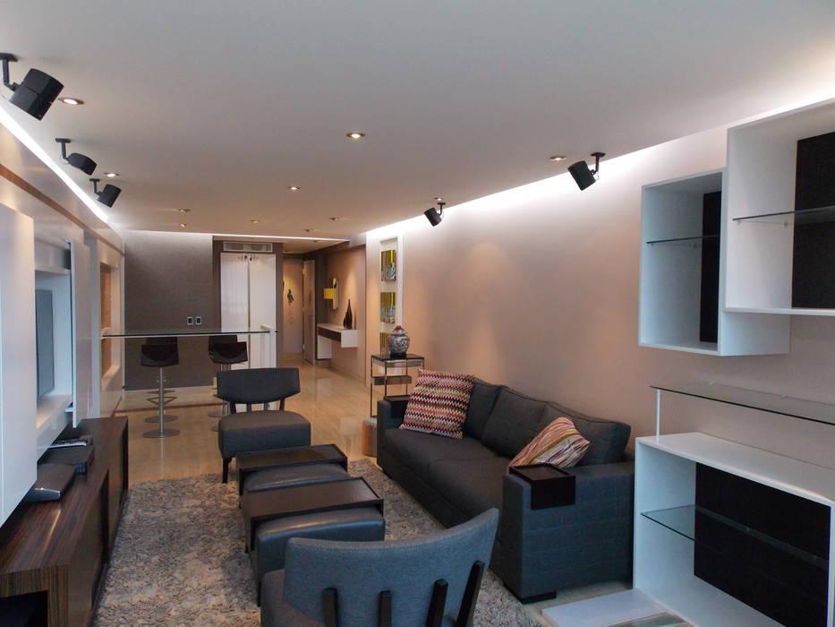 Apartamento 533: Salas / recibidores de estilo  por TRIBU ESTUDIO CREATIVO,