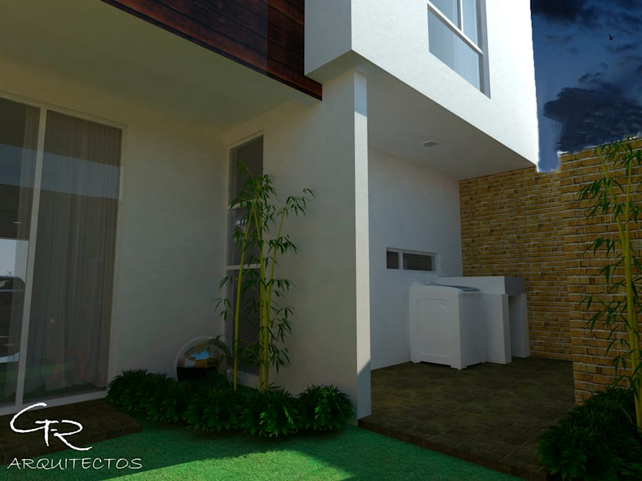 House Tempo: Jardines de estilo moderno por GT-R Arquitectos