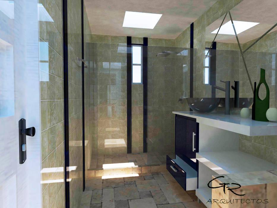 House Tempo: Baños de estilo  por GT-R Arquitectos