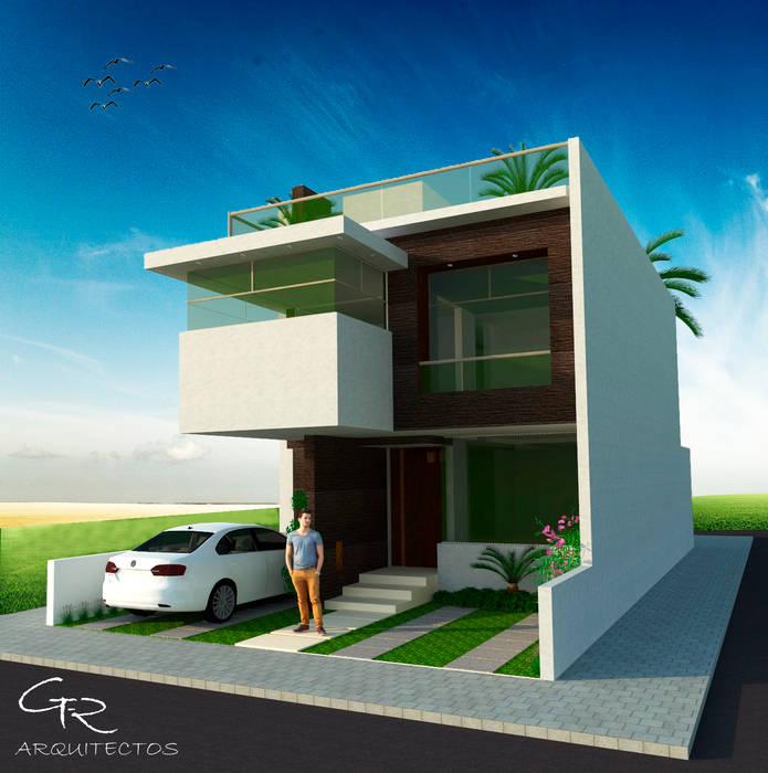 House BR : Casas de estilo moderno por GT-R Arquitectos